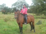 matty and i on a hack in muiravonside park