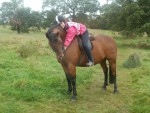 Matty and me at muiravonside park on a hack sept 2011